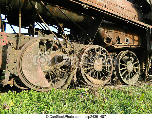 Old steam locomotive - csp24351407