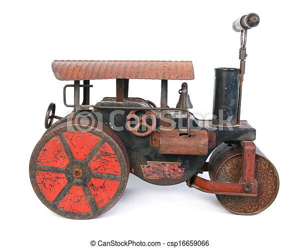 old steamroller toy - csp16659066
