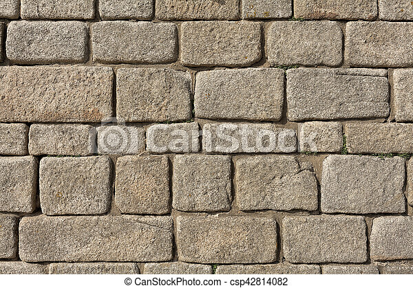 Old stone brick wall as background - csp42814082