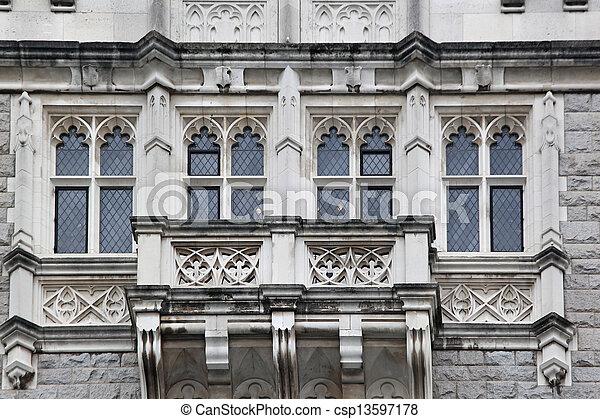 Old stone facade - csp13597178
