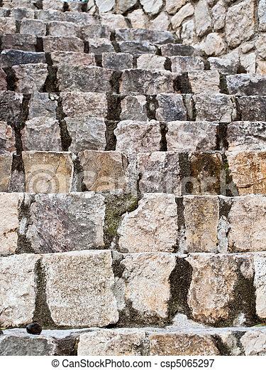 Old stone stairs in Dalmatia - csp5065297