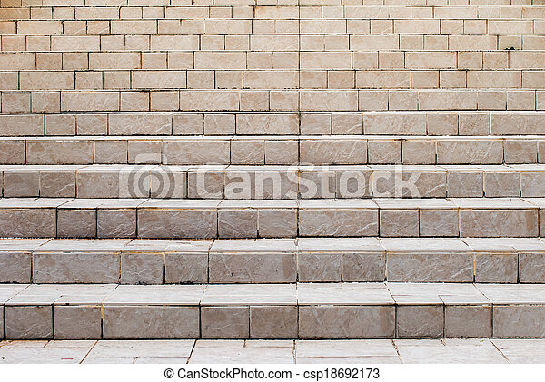 Old stone stairs - csp18692173