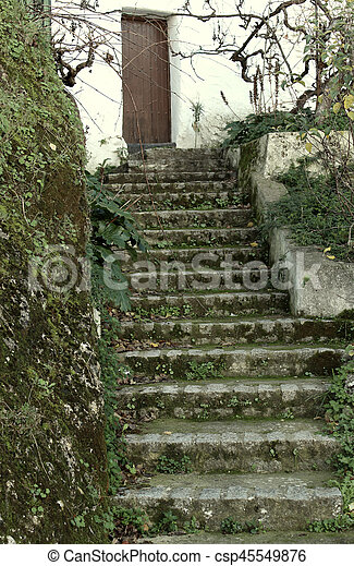 Old stone stairs - csp45549876