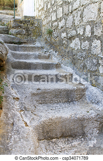 Old stone stairs - csp34071789