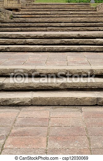 Old stone stairs - csp12030069