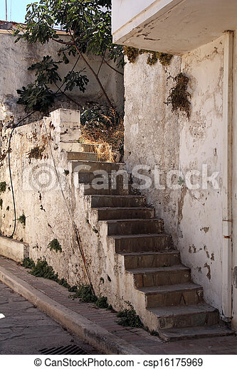 old stone stairs - csp16175969