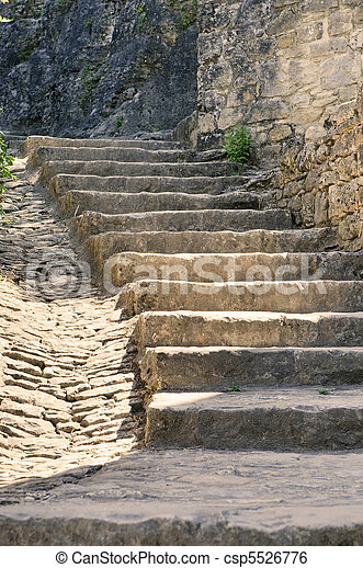 old stone stairs - csp5526776