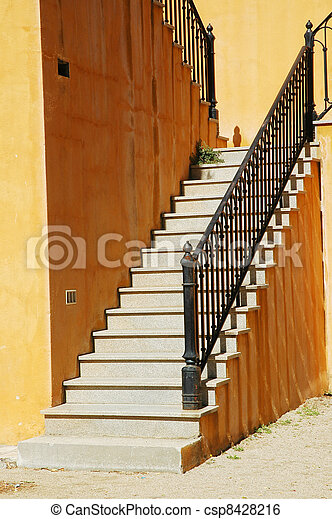 Old stone stairs - csp8428216