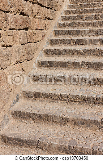Old stone stairs - csp13703450