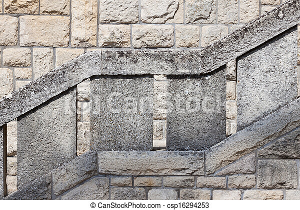 Old stone stairs - csp16294253
