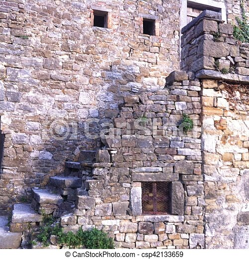 old stone stairs - csp42133659