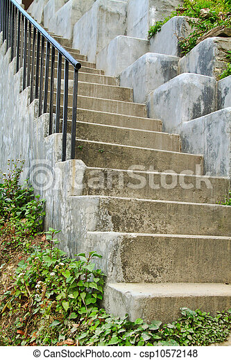 Old stone stairs - csp10572148