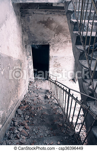 Old stone stairs - csp36396449