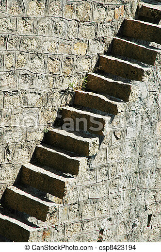 Old stone stairs - csp8423194
