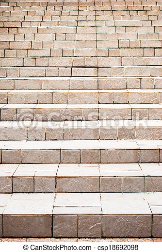Old stone stairs - csp18692098