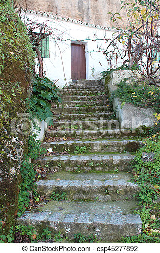 Old stone stairs - csp45277892