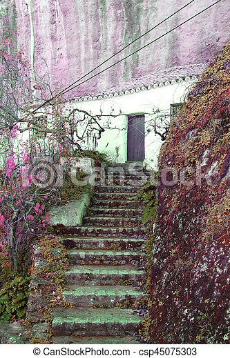 Old stone stairs - csp45075303