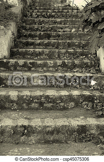 Old stone stairs - csp45075306
