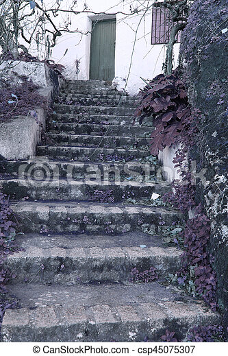 Old stone stairs - csp45075307