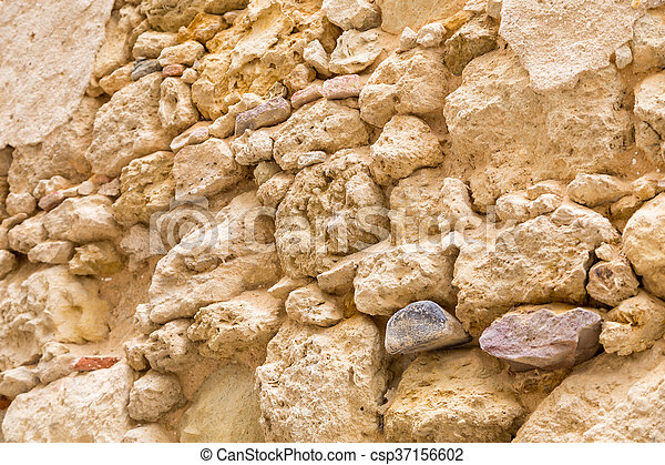 old stone wall as background - csp37156602