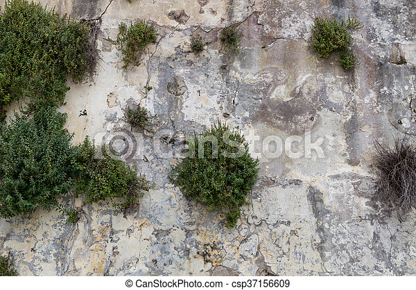 old stone wall as background - csp37156609