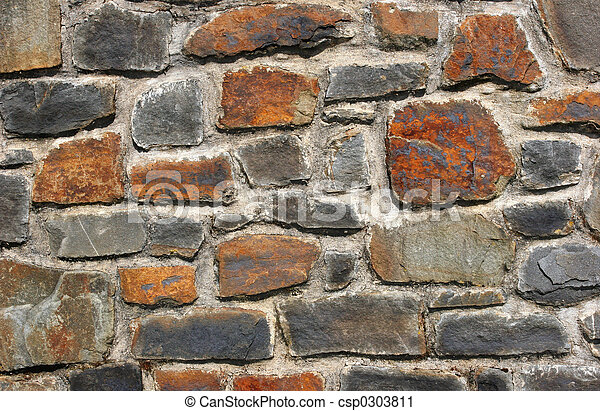 Old Stone Wall - csp0303811