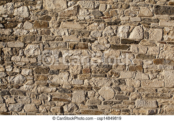 old stone wall - csp14849819