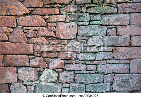 Old stone wall - csp33034275