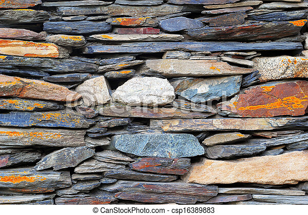 Old stone wall - csp16389883