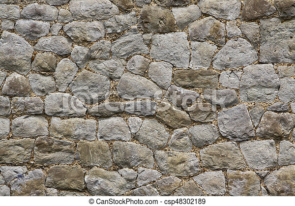 Old Stone Wall - csp48302189