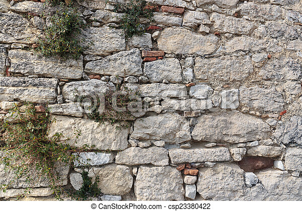 Old stone wall - csp23380422