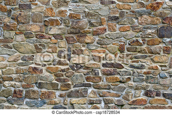Old stone wall - csp18728534