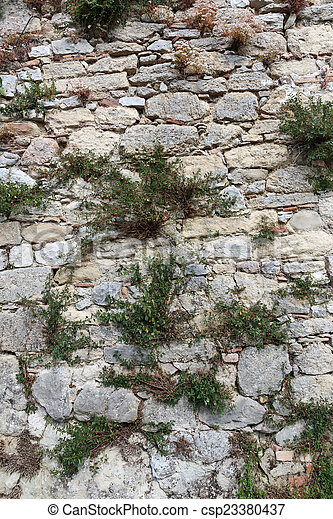 Old stone wall - csp23380437