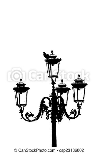 old street lamp - csp23186802