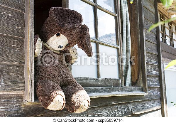 Old stuffed bear - csp35039714