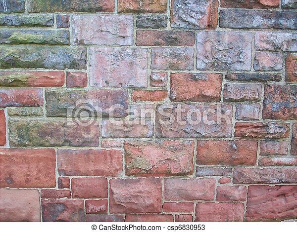 Old Style Brick Wall 2 - csp6830953