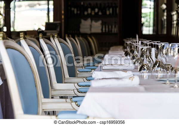 Old-styled restaurant waiting for visitors - csp16959356