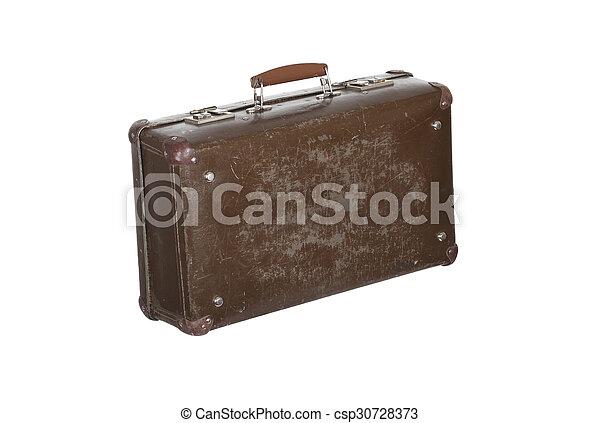 old suitcase isolated on white background old vintage suitcase