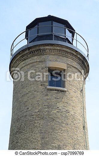 Old Tan Brick Lighthouse - csp7099769