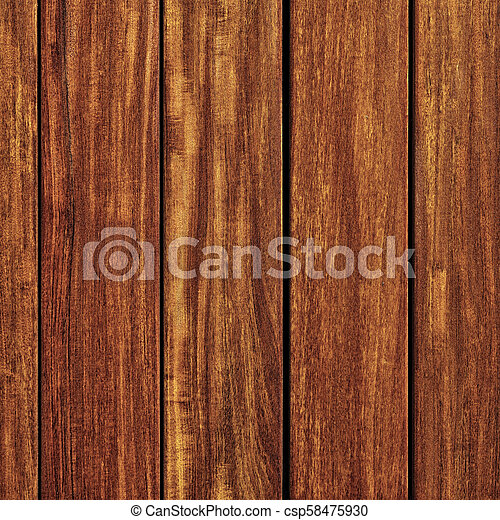 Old teak wood wall background square format - csp58475930