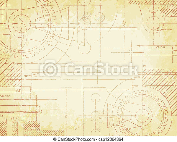 Old technical drawing grungy old technical blueprint clip art old technical drawing csp12864364 malvernweather Image collections