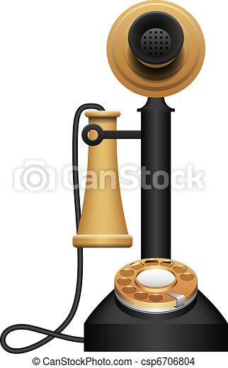 Old Telephone - csp6706804