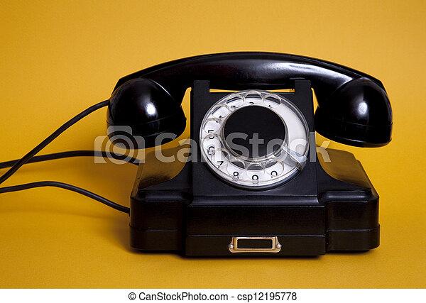 Old telephone - csp12195778