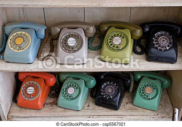 Old Telephone - csp5567021