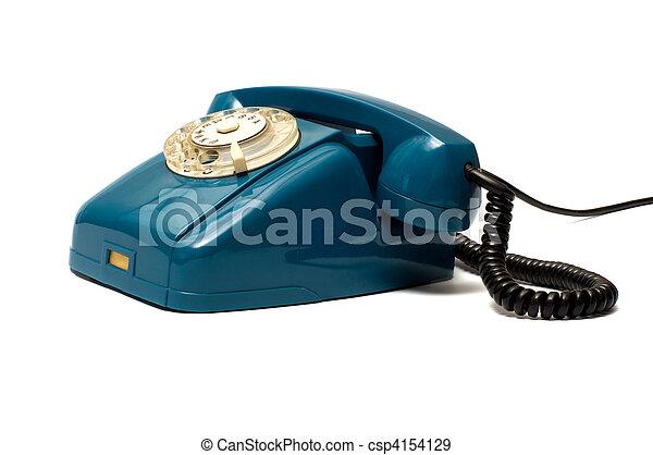 Old telephone. - csp4154129