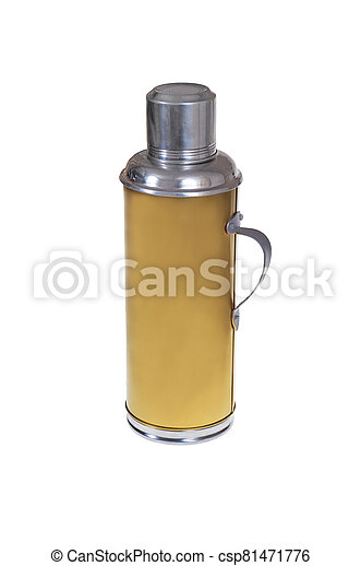 Old thermos bottle. - csp81471776