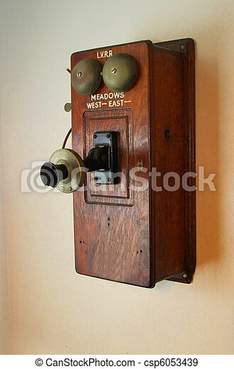 Old Time Phone - csp6053439