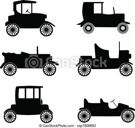 old timer cars illustration - csp7808893