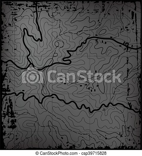 Old Topographic Map - csp39715828