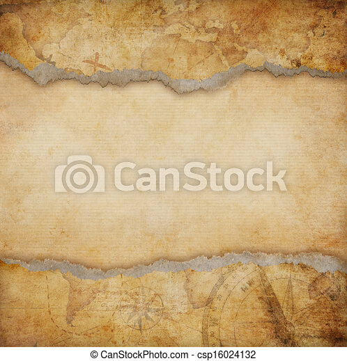 old torn map background - csp16024132
